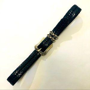 Brighton 💯 Leather Woven Belt Adjustable Size 30